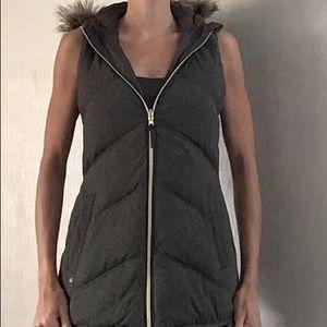 Michael Kors green puffer reversible zip vest sz S